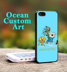 Adventure Time - Print on Hard Cover iPhone 4/4S Black Case