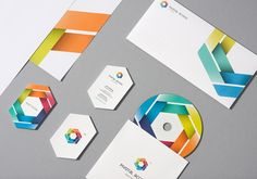 Great color wheel usage in this Brand Identity