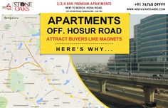 Check out why Hosur road is thE hot favorite for Apartment buyers in Bengaluru : http://neevavantgarde.com/luxury-apartments-hosur-road/  #NeevAvantgarde presents #StoneOaks, a premium apartment project on #HosaRoad, off #HousrRoad. Ready to occupy early 2016  for a Site Visit & Project Brochure Call: +91 76760 09999