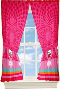 Anticipating for the sun light to dawn into your bedroom by shining through the fabulous design of Hot Pink Hello Kitty Floral Curtain Set. Isn't this what you want to see in the morning?  #Tag a #friend Who'd like to see this <3   #HelloKitty #HelloKittyCollection #HelloKittyAddict #HelloKittyCurtain #Bedroom #windows #Flower #Floral