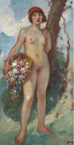 Georges d´ Espagnat, Jeune fille à la corbeille de roses
