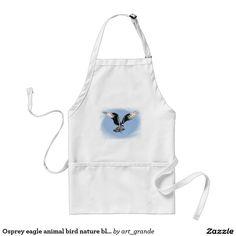 Osprey eagle animal bird nature blue sky adult apron