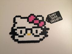 Hello Kitty - Glasses. via SuperJade Designs. Click on the image to see more!