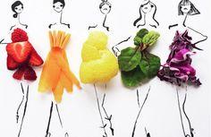 Groente en fruit brengen deze toffe schetsen tot leven