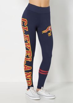 image of Cleveland Cavaliers Striped Legging