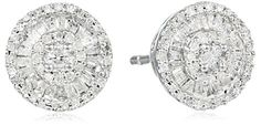 Sterling Silver Diamond Round Stud Earrings 12 cttw >>> More info could be found at the image url.