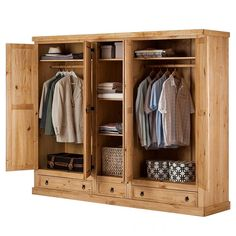 in 2020 Wooden Closet, Wooden Wardrobe, Wardrobe Furniture, Bedroom Wardrobe, Wardrobe Closet, Home Furniture, Furniture Design, Teen Room Decor, Home Decor Bedroom