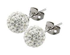 Tresor Paris Disco Ball Stud Earrings - Allergy Free Titanium - 6mm White  http://electmejewellery.com/jewelry/earrings/tresor-paris-disco-ball-stud-earrings-allergy-free-titanium-6mm-white-couk/