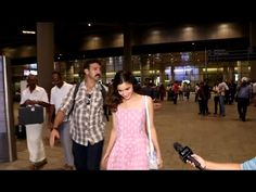 WATCH Alia Bhatt in a cute pink gown spotted at Mumbai Airport. See the full video at : https://youtu.be/Iism3tEoxNQ #aliabhatt