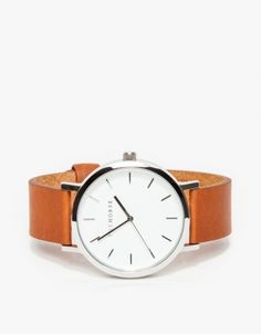 Silver/ Tan Band Watch
