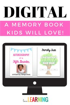 This Google Classroom Memory Book is the perfect way to incorporate writing into your curriculum. It includes autobiography templates that students type into. Then, simply print the pages and bind the books to create a digital memory book keepsake! It make the perfect student gift. #memorybookideas #5thgradeideas #endoftheschoolyear Classroom Design, Classroom Organization, Classroom Management, Autobiography Template, Autobiography Project, Teaching Writing, Teaching Ideas, Educational Technology, Technology Tools