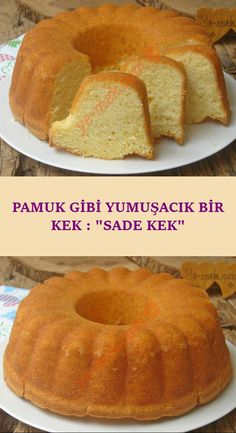A Cake That Is Never Surprising, Its Size Is Full: Plain Cake- Ölçüsü Hiç Şaşmayan, Tam Kıvamında Bir Kek : Sade Kek Cotton that you will do with the few materials at home … - Plain Cake, Best Cake Recipes, New Cake, Food Preparation, Love Food, Deserts, Food And Drink, Bread, Cookies