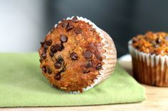 Chocolate Chip, Oatmeal and Molasses Muffins