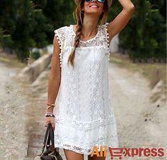 Beyaz elbise via #AliExpress, US $8.99, Türkiye ücretsiz kargo