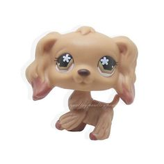 Springer Cocker Spaniel #156 (Brown/White, Green Eyes,) - Littlest Pet Shop (Retired) Collector Toy - LPS Collectible Replacement Single Figure - Loose (OOP Out of Package & Print)