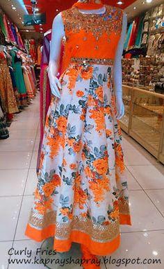 Floral anarkali dress