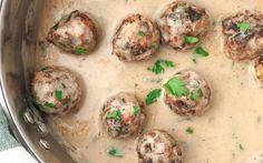Swedish Mushroom Meatballs [Vegan] | One Green Planet