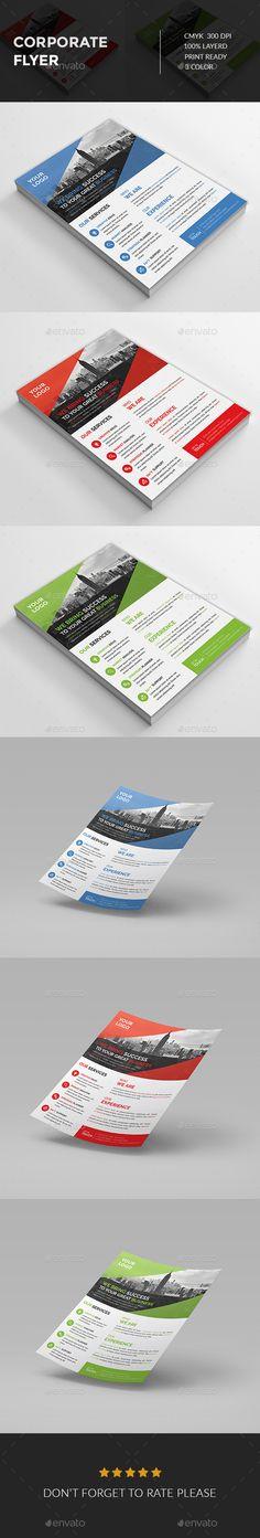 Corporate Flyer Template PSD #design Download: http://graphicriver.net/item/-corporate-flyer/14030131?ref=ksioks