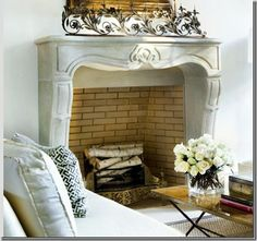 Things That Inspire: Softly curved mantels
