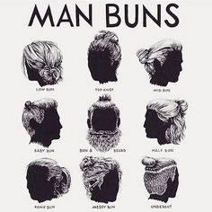 #manbuns?... Seriously?  Worse fashion trend since the sagging jeans... <gag> Real dumb.