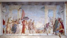 Fresco at Hôtel Jacquemart-André - this fresco by Giambattista Tiepolo was painted for the Villa Contarini in Mira (Venetia), where the Andrés discovered it in 1893.