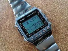 Retro Watches, Old Watches, Vintage Watches, Watches For Men, Casio Databank, Casio Watch, Casio Digital, Digital Watch, Casio Vintage Watch