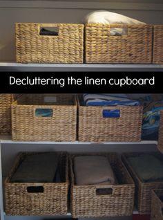 Decluttering the linen cupboard