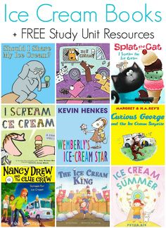 Ice Cream Books for Kids + FREE Study Unit Resources