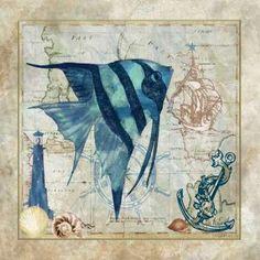 CUADROSTOCK.COM - Cuadro Nautical Fish I / Jill Meyer