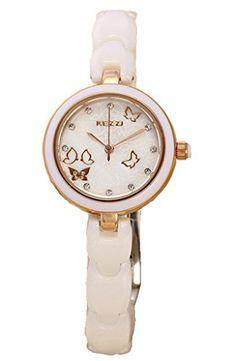 Kezzi Women's Watches K1068 Fashion Luxury Quartz Analog Butterfly Dial Ceramic Bracelet Gold Wrist Watch Kezzi http://www.amazon.com/dp/B012BV8VI8/ref=cm_sw_r_pi_dp_8LkSvb1H102XT