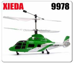Xieda 9978 Mini 2.4GHz 4 Channel RC Helicopter W/Gyro Same Brand As 9958 by Xieda. $38.00. Xieda 9978 Mini 2.4GHz 4 Channel RC Helicopter W/Gyro 9978 Mini 2.4GHz RC 4CH Helicopter is an ultra micro-sized version, offering first-time pilots the ability to learn how to fly with ease and experienced heli pilots the ability to fly anytime, anywhere indoors. This products offers unsurpassed stability and incredible control through the coaxial, counter-rotating head design a...