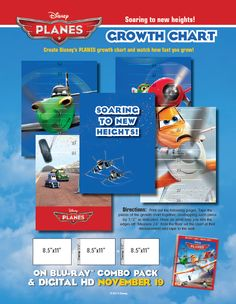 Growth Chart-6 pages-- http://skgaleana.com/disney-planes-free-printables/