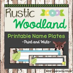 FREE! These adorable rustic woodland name plates are the perfect accent for your neutral classroom décor! These tags will nicely complement a rustic theme, a woodland animal theme, or a nature theme. They coordinate perfectly with all of my Rustic Woodland-themed classroom décor.
