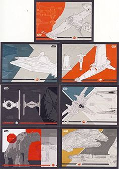 2017 Topps Star Wars: Journey to the Last Jedi Trading Cards 7-Card Blueprints Insert Set //Price: $9.99 & FREE Shipping //     #starwarsfan