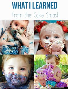 What I learned from the Cake Smash...and a WINNER!