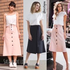 Modest Dresses, Modest Outfits, Casual Dresses, Casual Outfits, Cute Outfits, Fashion Outfits, Denim Skirt Outfits, Skirt And Sneakers, Modesty Fashion