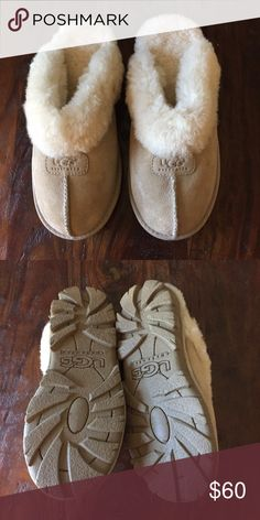 Ugg slippers Ugg slippers.  Like new...only worn a couple of times UGG Shoes Slippers