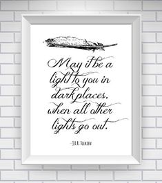 JRR Tolkien The Lord of the Rings Print Literary Quote by NeverMorePrints