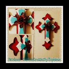 Red Rose Wall Cross