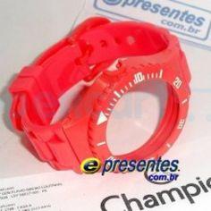 Pulseira Avulsa Original Champion VERMELHO NEON (CORAL) PR30719A