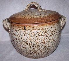 Handmade Asian Brown Speckled Stoneware YUNNAN Steamer Pot Funnel Chimney