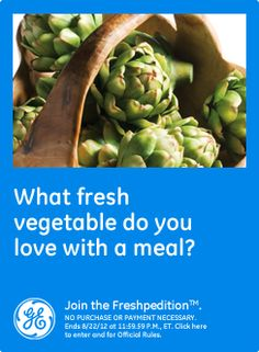 What fresh vegetable do you love with a meal?  I love cucumbers with vinegar and Splenda!  #GEfreshSC