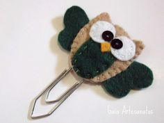 Felt owl bookmark Cute idea for the party