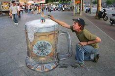 3D sidewalk ad/art