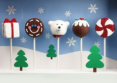Cake Pops Holidays Ornaments