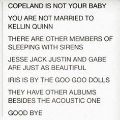 Thank god somebody else knows that Iris is by the Goo Goo Dolls.