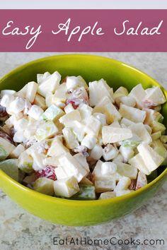 Easy Apple Salad, Delicious Sweet Salad Recipe!