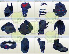 Batman Beyond Costume Template / Pattern Pepakura 3D Model