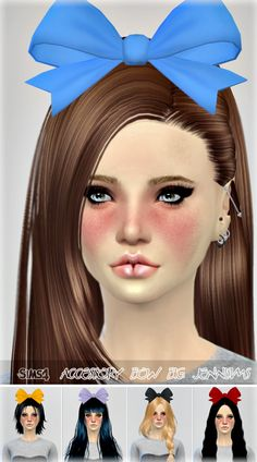 Jennisims: Downloads sims 4: New Mesh Accessory Hair Bow Big