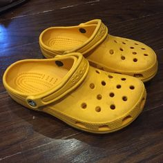 e4e2bc30cd Shop Women's crocs Orange Yellow size Small Shoes at a discounted price at  Poshmark. When but excellent condition. Just needs to be wiped down.